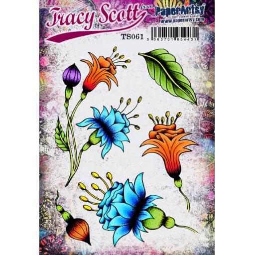 PaperArtsy - Tracy Scott 061 (A5 set, trimmed, on EZ)
