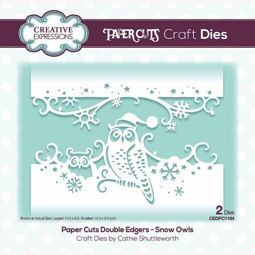 Creative Expressions Paper Cuts Snow Owls Double Edger Craft Die