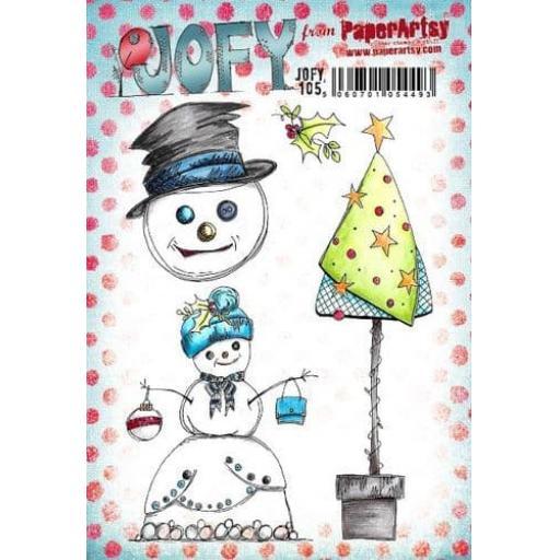 PaperArtsy - JOFY105 (A5 set, trimmed, on EZ)