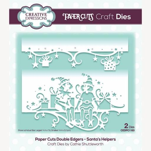 Creative Expressions Paper Cuts Santa's Helpers Double Edger Craft Die