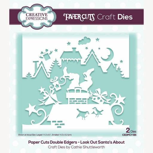 Creative Expressions Paper Cuts Look Out Santa's About Double Edger Craft Die