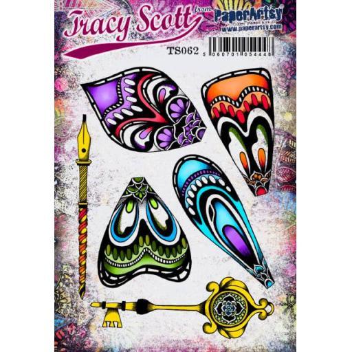 PaperArtsy - Tracy Scott 062 (A5 set, trimmed, on EZ)
