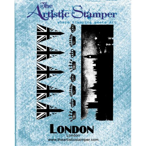 London A6 (cut out and mounted on cling cushioning)