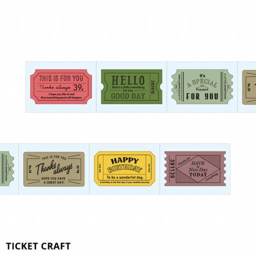 Midori Sticker Roll -Ticket 6 Designs