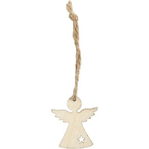 Hanging Christmas ornament, H: 3,2 cm, W: 2,9 cm, thickness 2,7 mm x 24