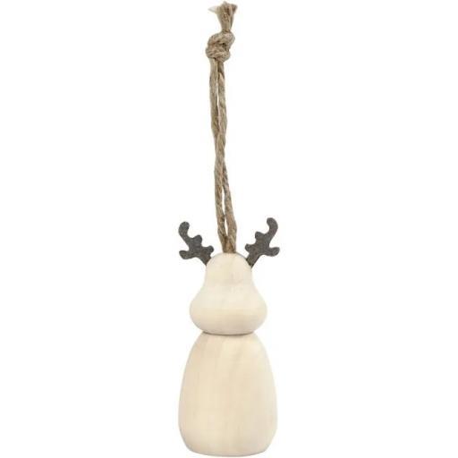 Reindeer, H: 7 cm, D: 3 cm, 1 pc