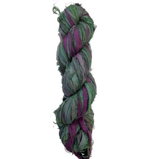Green Tie Dye Sari Silk