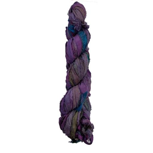 Purple Tie Dye Sari Silk