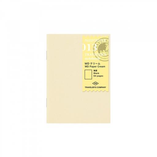 TRAVELER'S Notebook Passport Size Refill 013 – MD Paper Cream
