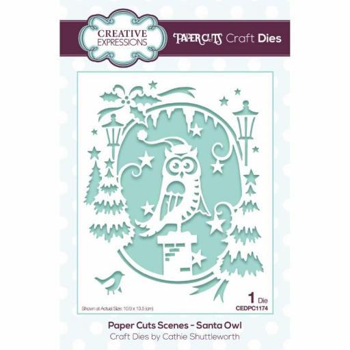 Creative Expressions Paper Cuts Scene Santa Owl Craft Die
