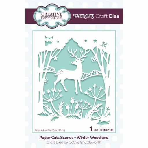 Creative Expressions Paper Cuts Scene Winter Woodland Craft Die