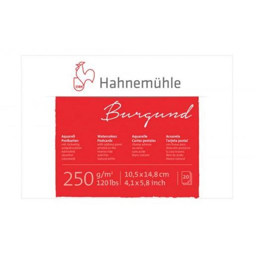 Hahnemuhle -Burgund Watercolour Postcards A6