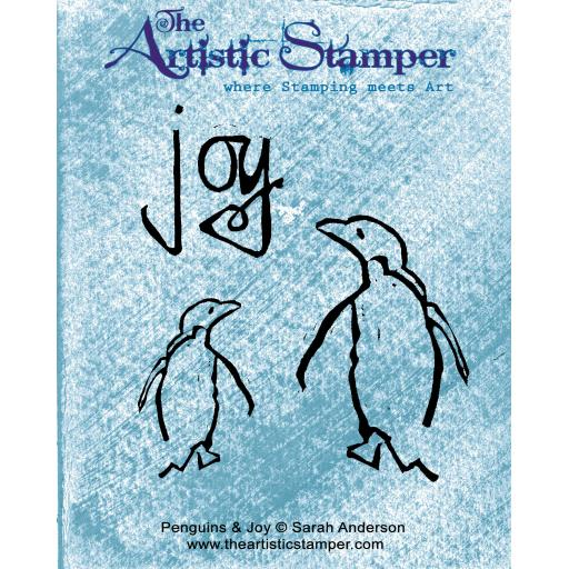 Penguins & Joy © Sarah Anderson ( cut out and mounted on cling cushioning)