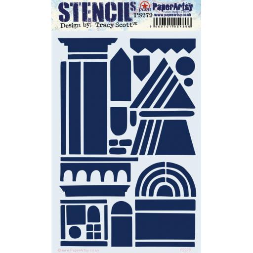 PaperArtsy - PA Stencil 279 Large {Tracy Scott}