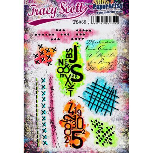 PaperArtsy - Tracy Scott 065 (A5 set, trimmed, on EZ)