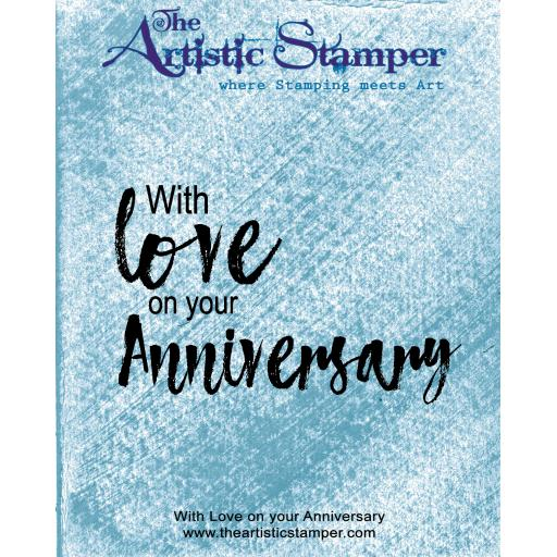With Love on your Anniversary ( cut out and mounted on cling cushioning)
