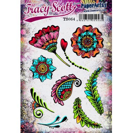 PaperArtsy - Tracy Scott 064 (A5 set, trimmed, on EZ)
