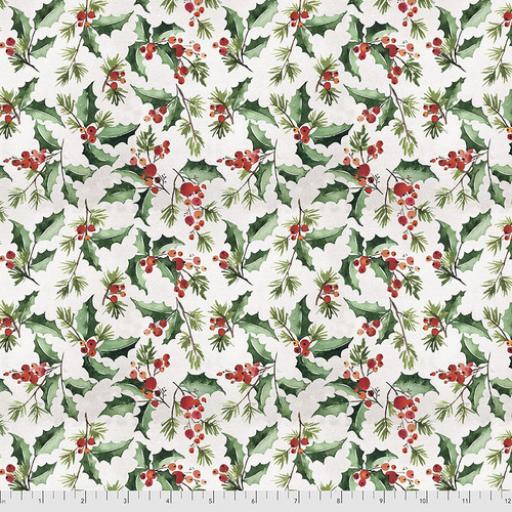 Tim Holtz - Christmastime - Jolly Holly - White