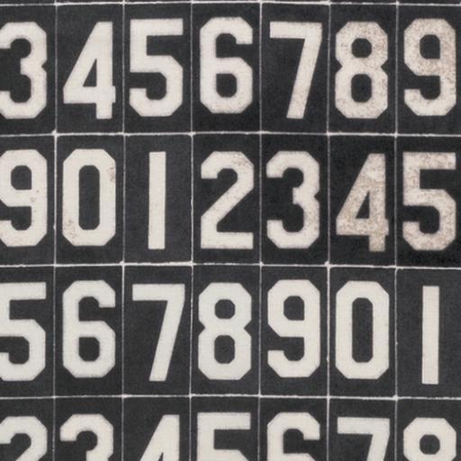 Tim Holtz® - Monochrome - Numbers Black