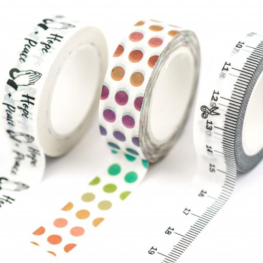 Yippee Stationery Washi Tape {multi colours} set of 3