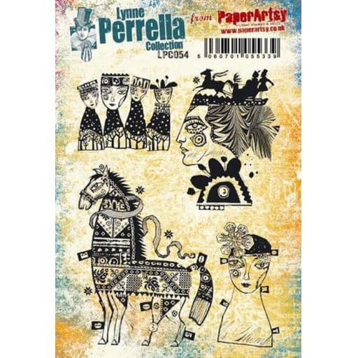 PaperArtsy - Lynne Perrella LPC054 (A5 set, cling-foam trimmed)