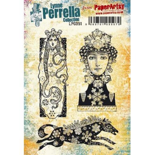 PaperArtsy - Lynne Perrella LPC051 (A5 set, cling-foam trimmed)