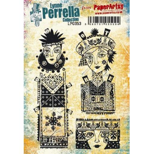 PaperArtsy - Lynne Perrella LPC053 (A5 set, cling-foam trimmed)