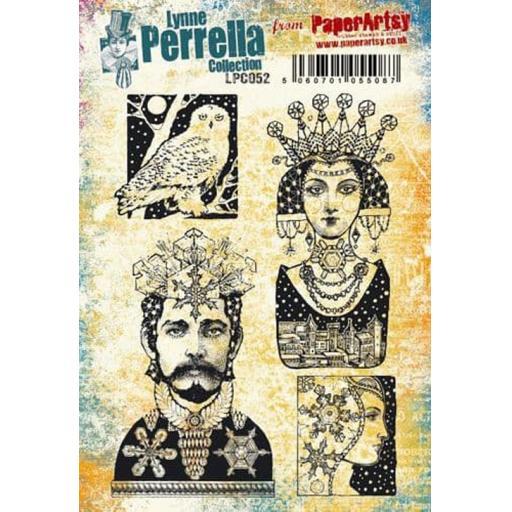 PaperArtsy - Lynne Perrella LPC052 (A5 set, cling-foam trimmed)